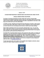 Cromwell Health Department Press Release